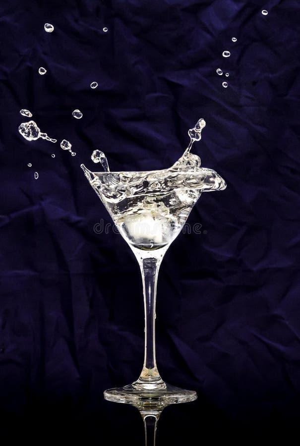 Glas wodka royalty-vrije stock afbeelding