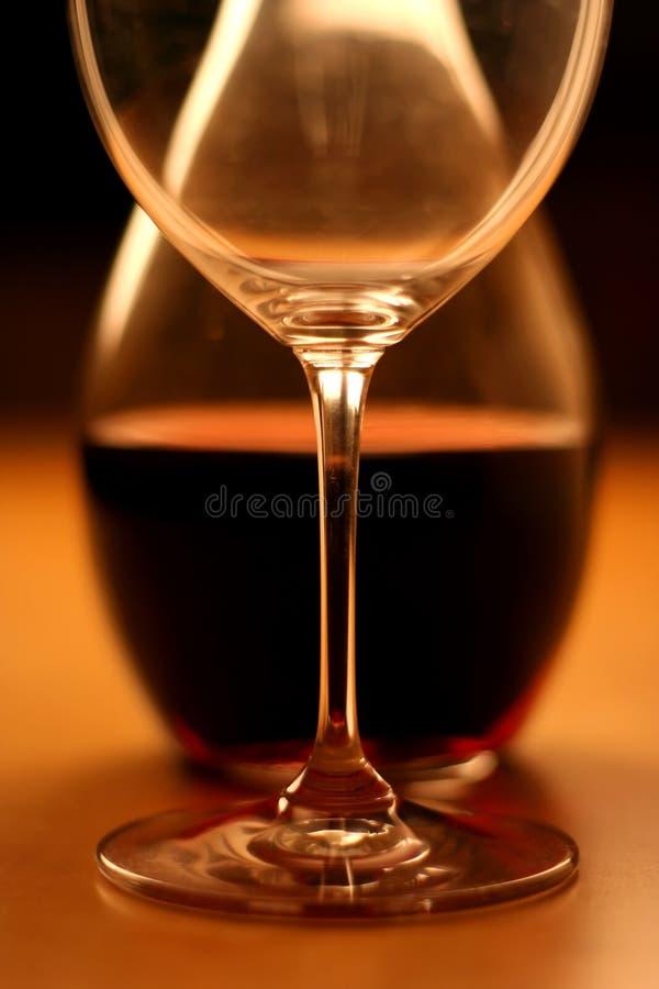 Glas y vino (cosecha) fotografía de archivo libre de regalías