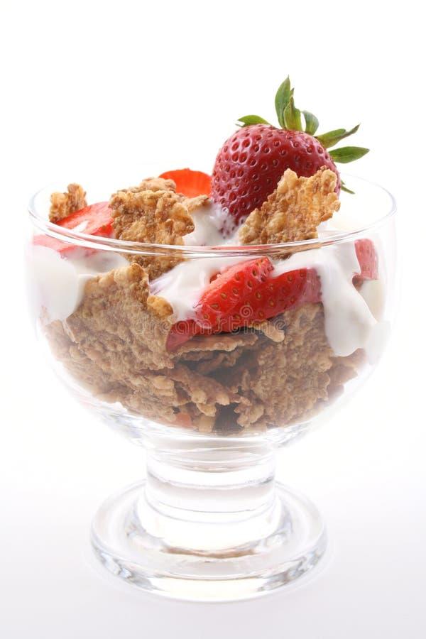 Glas yoghurt stock fotografie