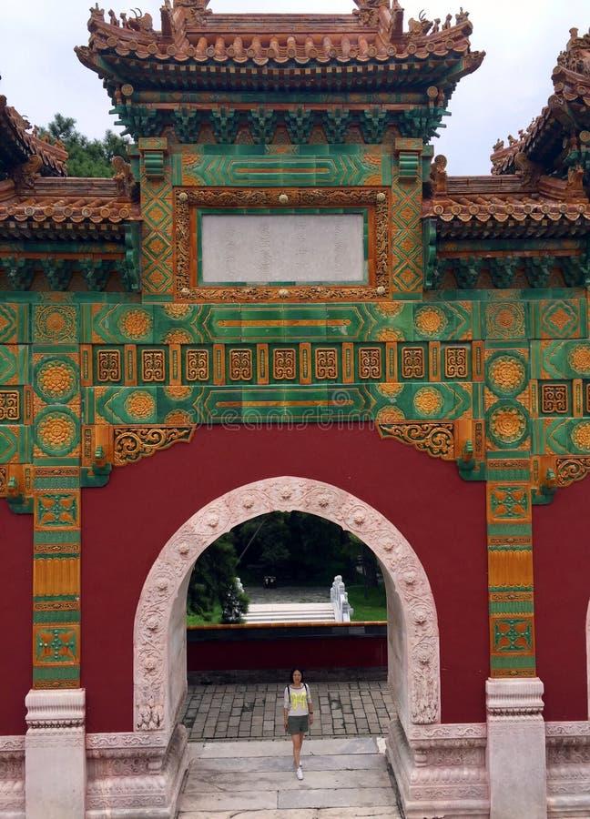 Glasad valvgång, Kina royaltyfri foto