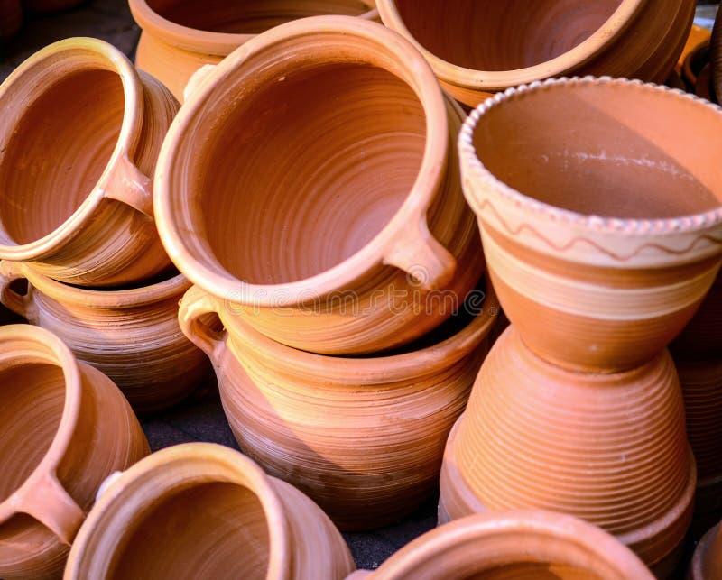 Glasade keramik eller lergods royaltyfri bild