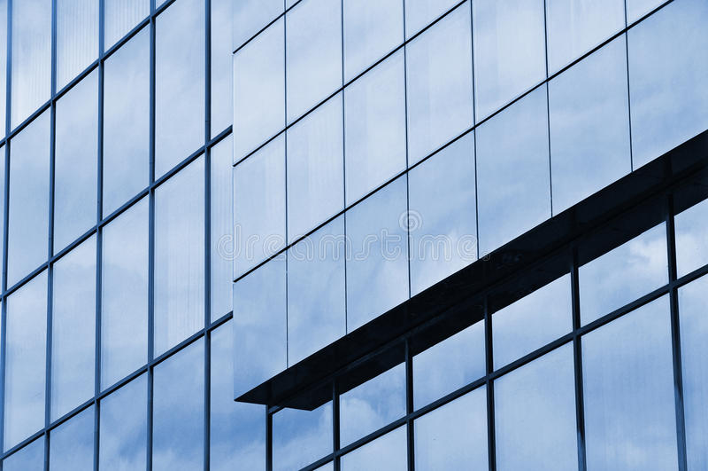 Glasaußenbankgebäude lizenzfreies stockfoto