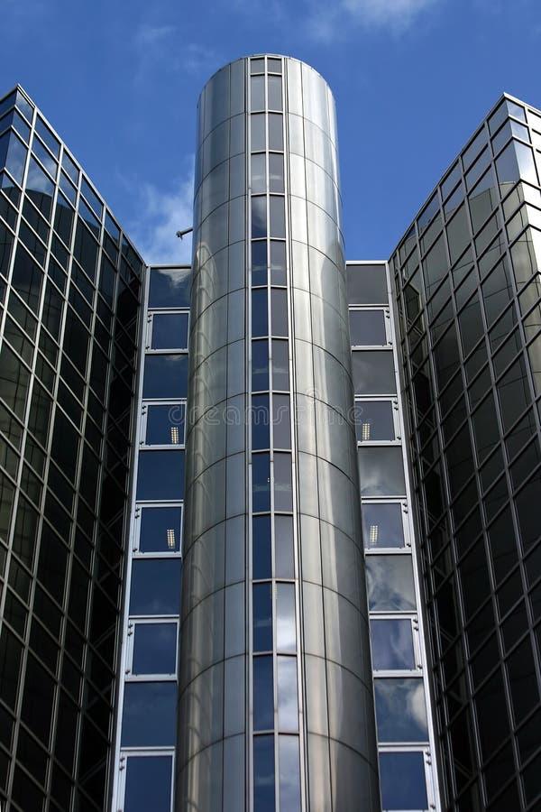 Glasbürohaus in Amsterdam lizenzfreies stockbild