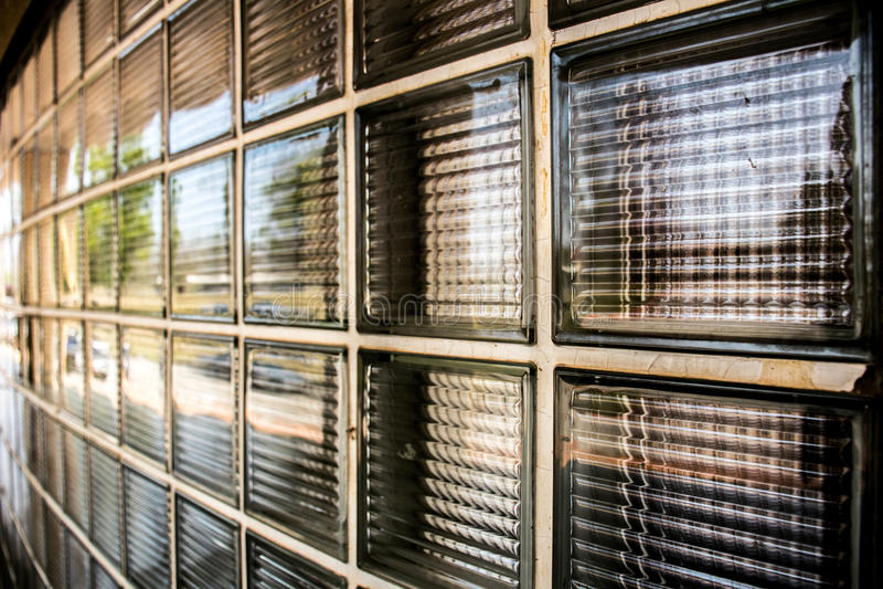 Glasblock-Wandbeschaffenheit stockfoto