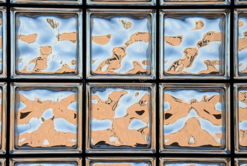 Glasblockfenster stockfotos