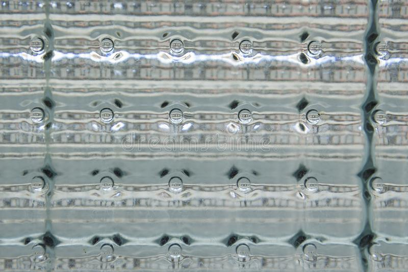 Glasblockfenster im Abschluss herauf Detail stockfotos