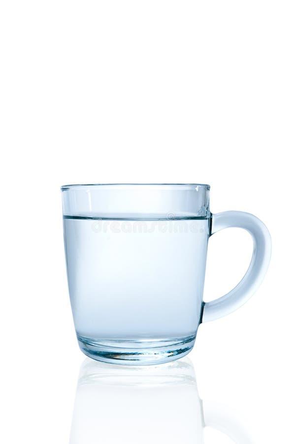 Glascup mit Wasser stockbilder