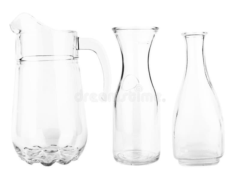 Glasdekantiergefäße stockbilder