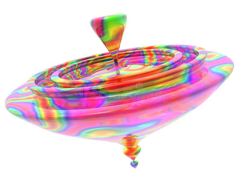 Glasdrehbeschleunigung-Oberseite stock abbildung