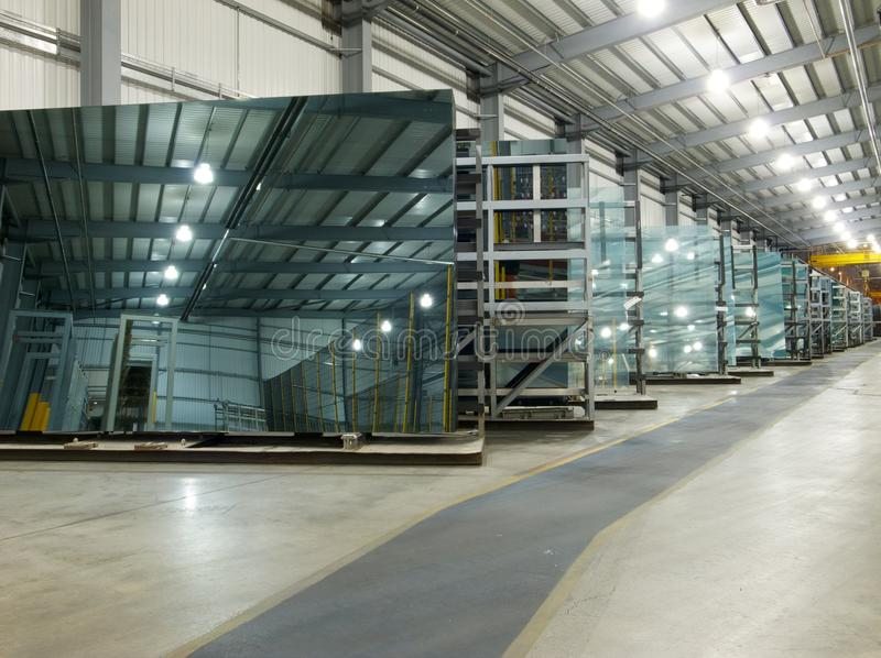 Glasfabriek royalty-vrije stock fotografie