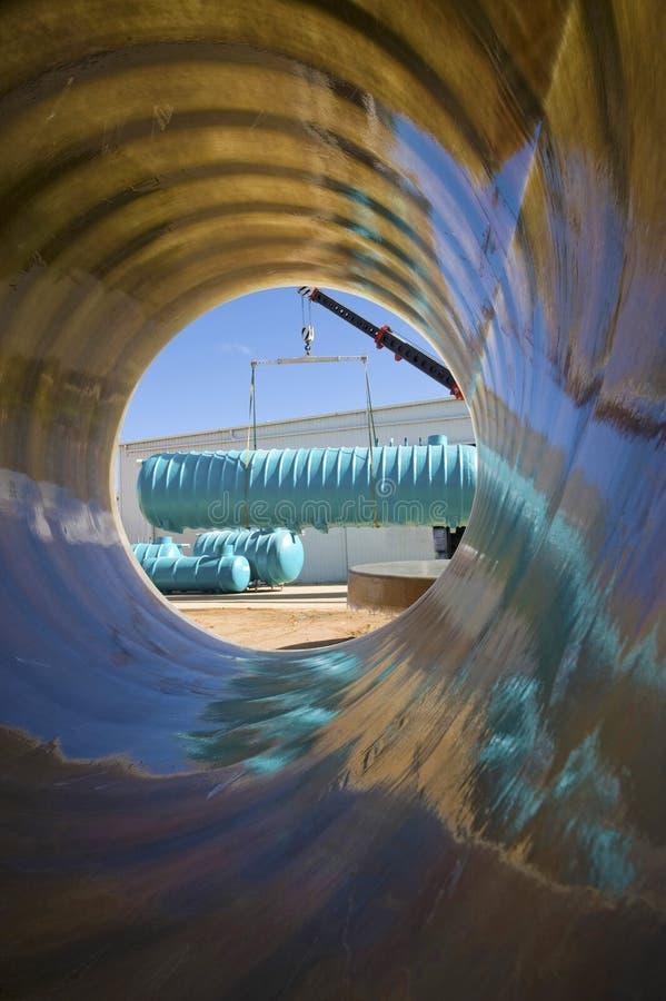 Glasfibervattenbehållare royaltyfria bilder