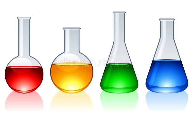 Glasflaschen. lizenzfreie abbildung