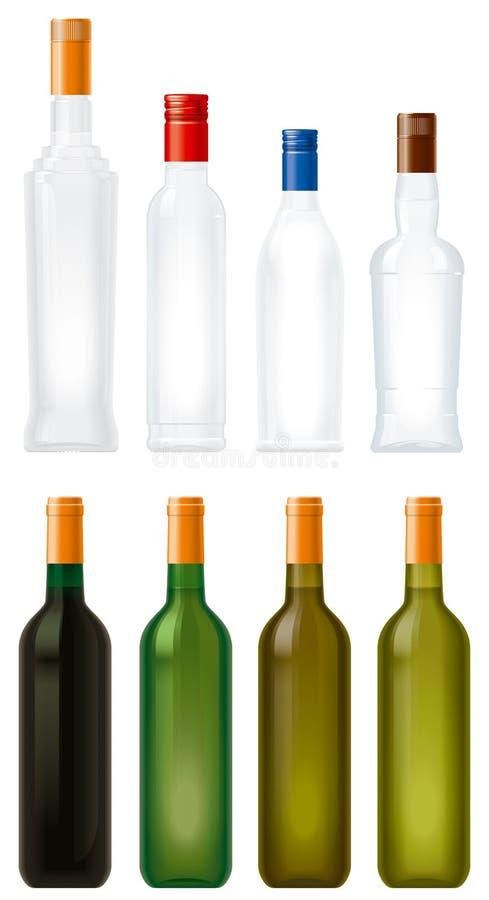 Glasflaschen stock abbildung