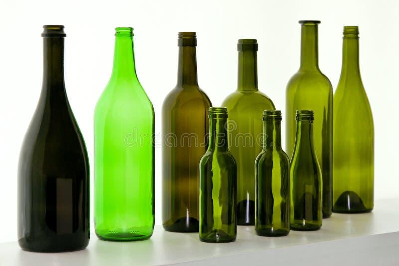 Glasflaschen lizenzfreie stockfotos