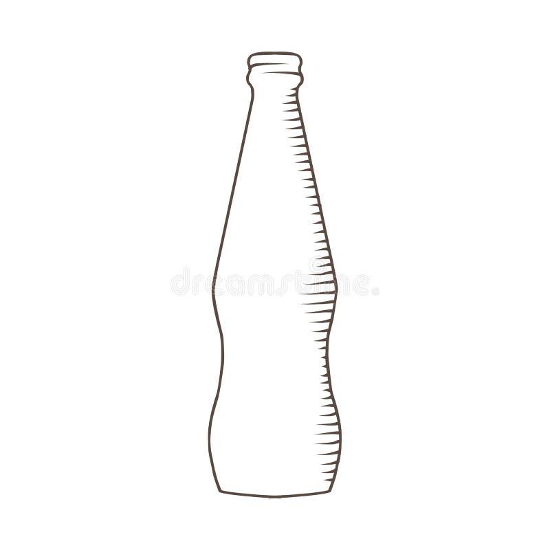 Glasflaska för en drink royaltyfri illustrationer