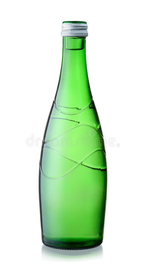 Glasfles mineraalwater royalty-vrije stock foto