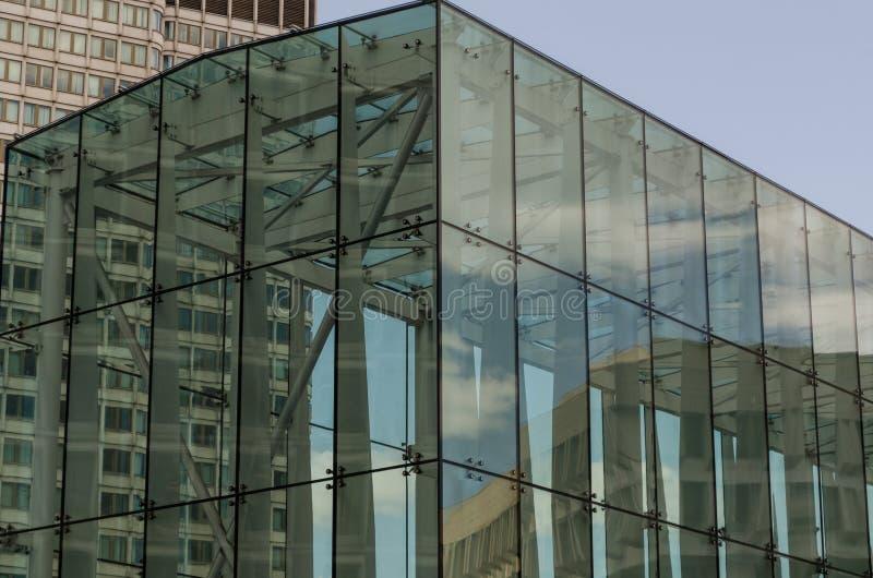 Glasgebäude in Boston, MA lizenzfreie stockbilder