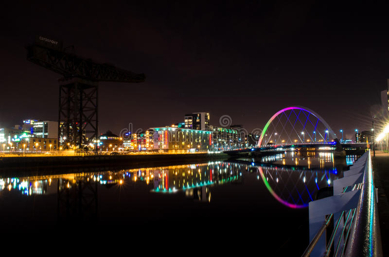 Glasgow Bridge stock images