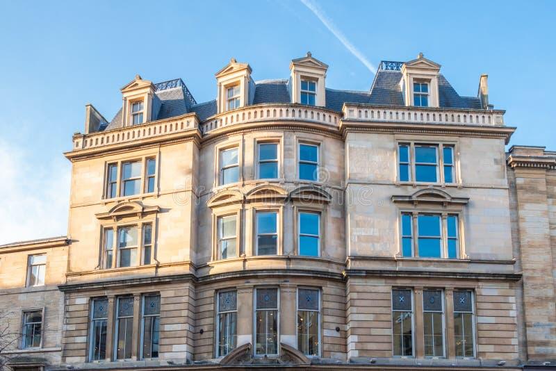 Glasgow Buildings in via di Buchanan un giorno luminoso fotografie stock