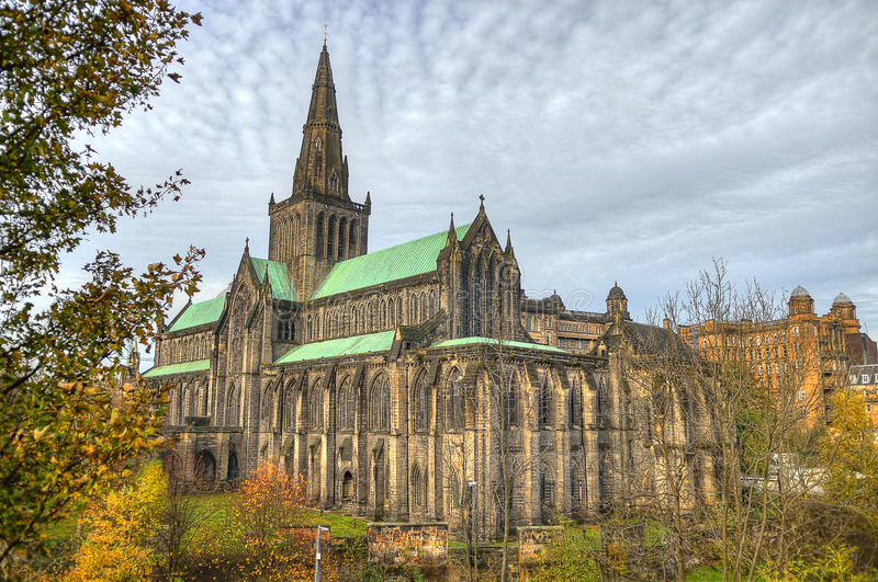 Glasgow cathedral aka High Kirk of Glasgow or St Kentigern or St Mungo.  royalty free stock photos