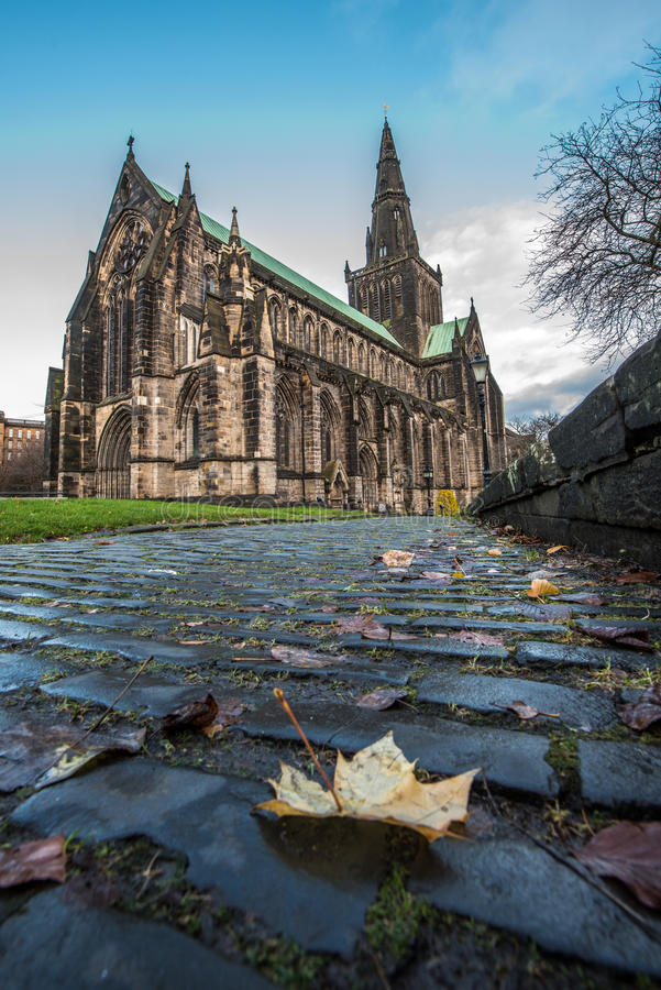 Glasgow Cathedral Cobbles imagem de stock royalty free