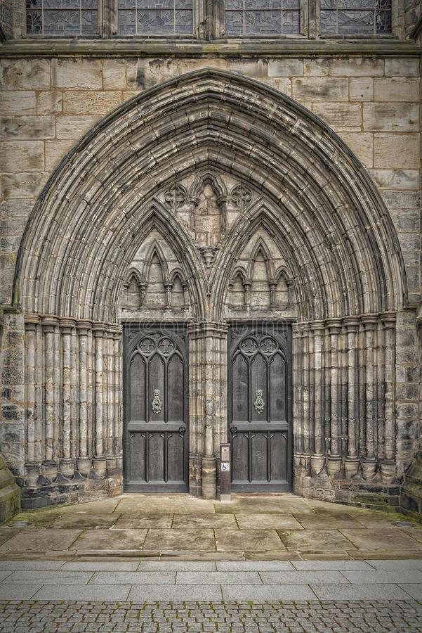 Glasgow Cathedral Doors immagini stock libere da diritti
