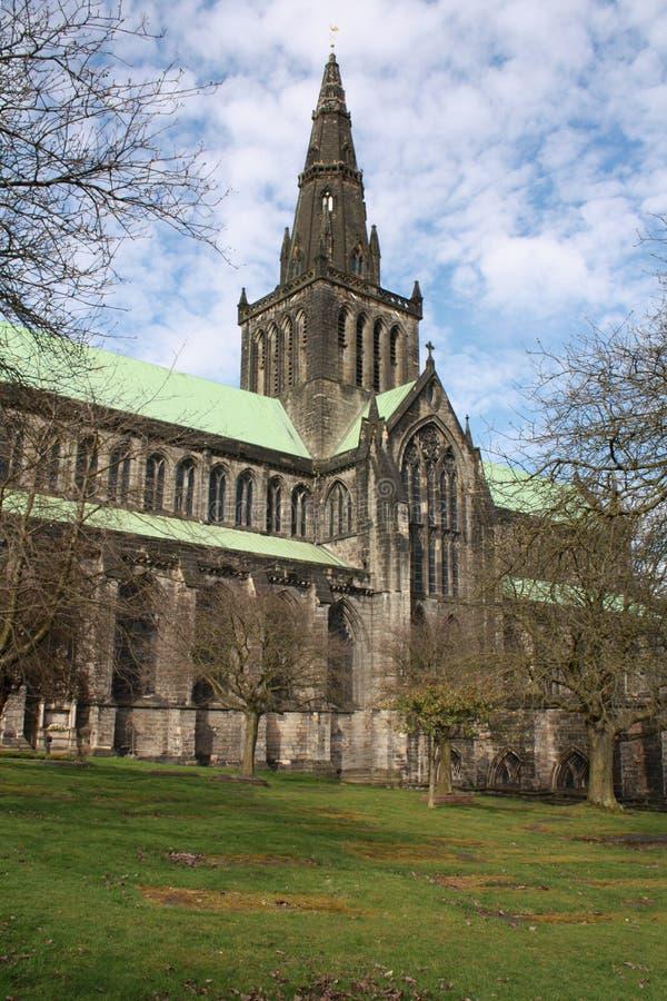Glasgow Cathedral em uma manhã clara fria imagem de stock