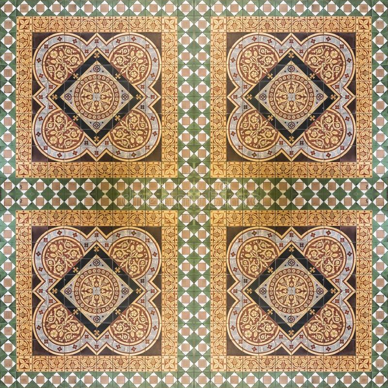 Glasgow Cathedral Floor Tiles fotografia stock