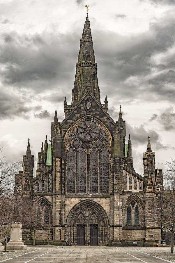 Glasgow Cathedral Front Facade immagini stock libere da diritti