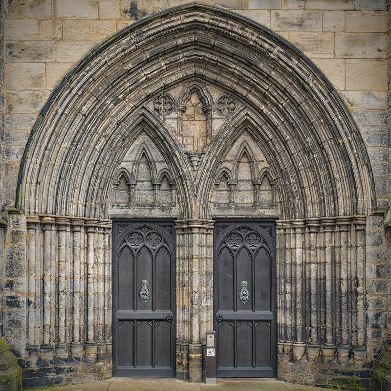 Glasgow Cathedral Main Entrance immagine stock