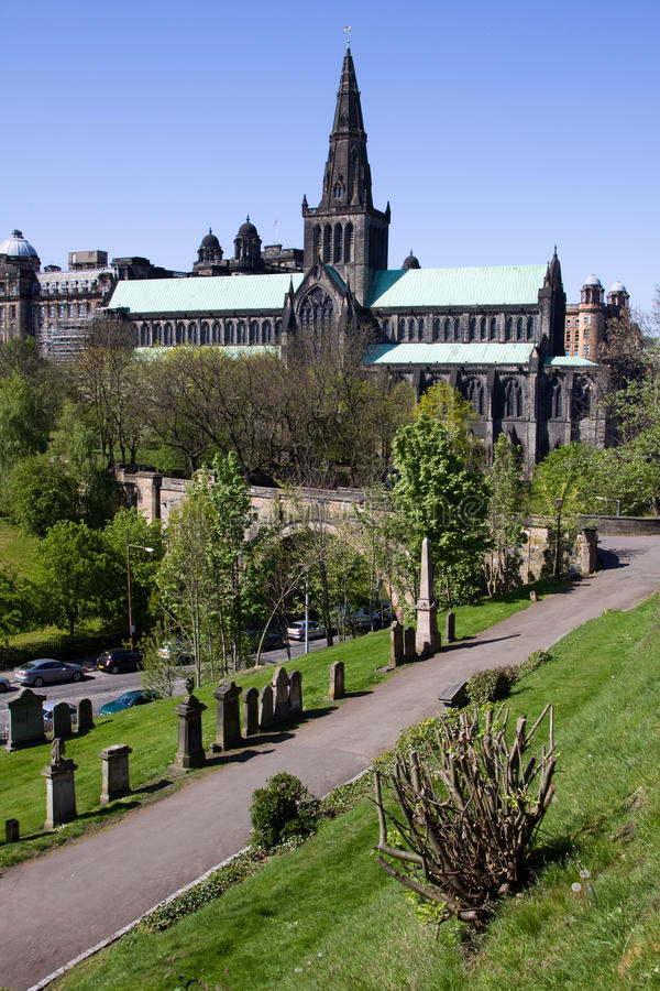 Glasgow Cathedral and Necropolis stock image