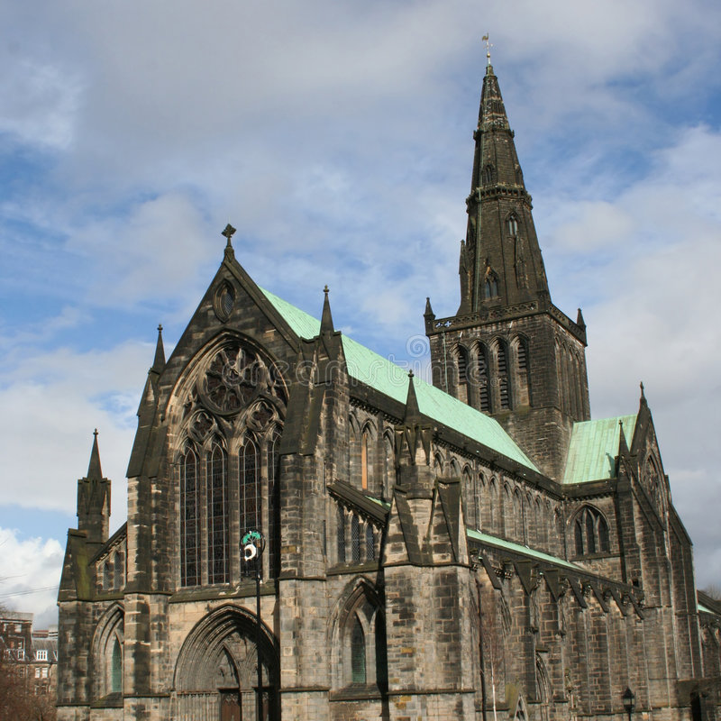 Glasgow cathedral Scotland stock images