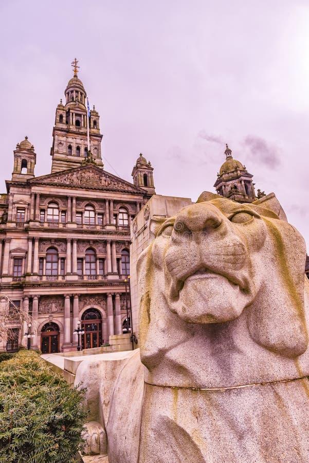 Glasgow Cenotaph imágenes de archivo libres de regalías