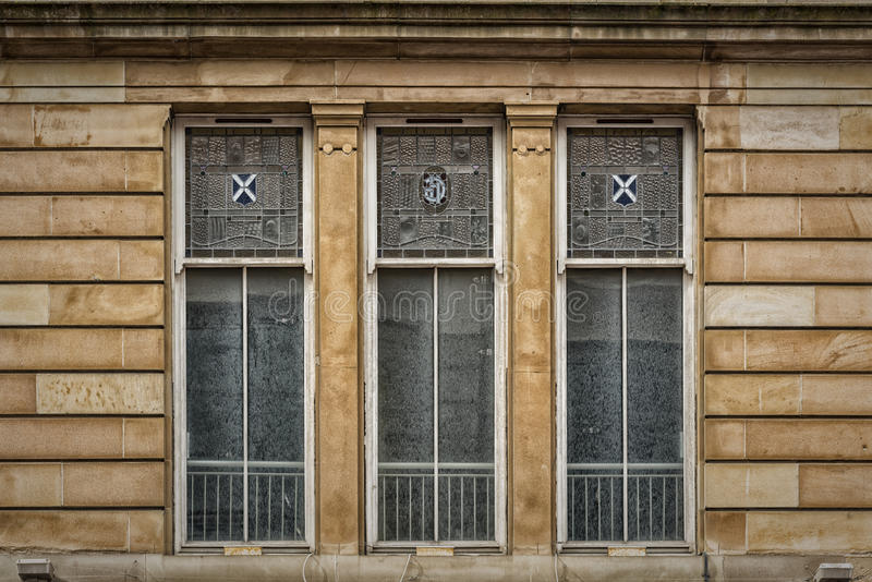 Glasgow City Centre Window fotos de archivo