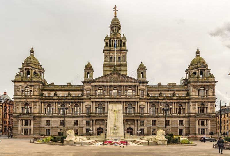 Glasgow City Chambers imagenes de archivo