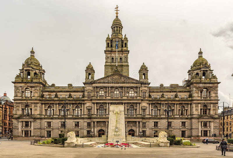 Glasgow City Chambers stock images
