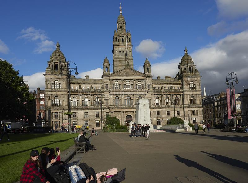 Glasgow City Chambers da George Square fotografie stock