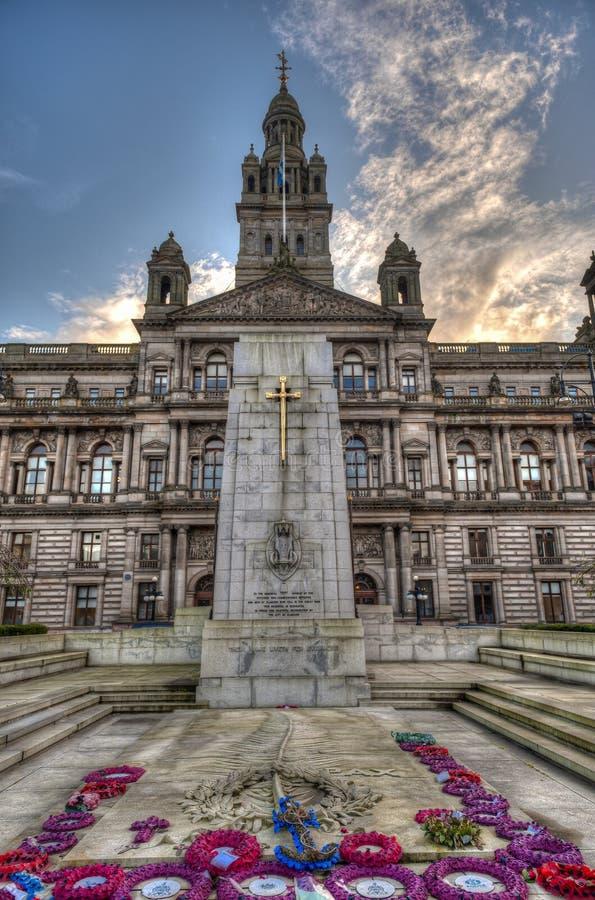 Glasgow City Chambers, de stad Glasgow in Schotland, Verenigd Koninkrijk stock foto's