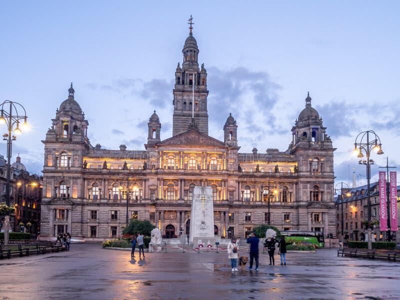 Glasgow City Chambers, Glasgow fotografie stock libere da diritti