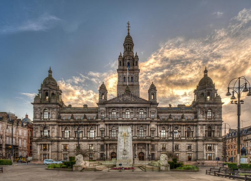 Glasgow City Chambers, the city of Glasgow in Scotland, United Kingdom.  stock photo