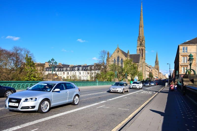 Glasgow cityscape royaltyfri bild