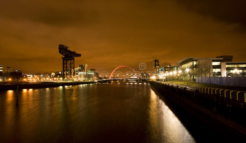 Glasgow Clyde images libres de droits