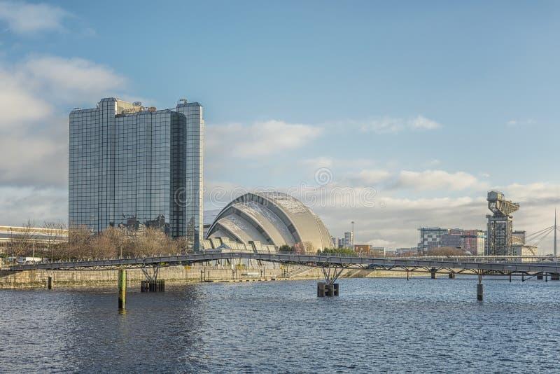 Glasgow Clydeside Cityscape stock foto's