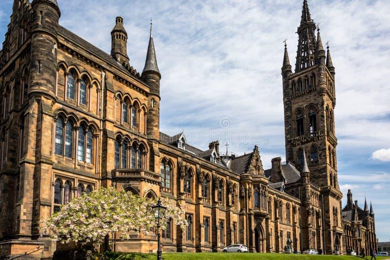 Glasgow, Ecosse - 19 mai 2018 : avant du bâtiment de Glasgow University photos stock