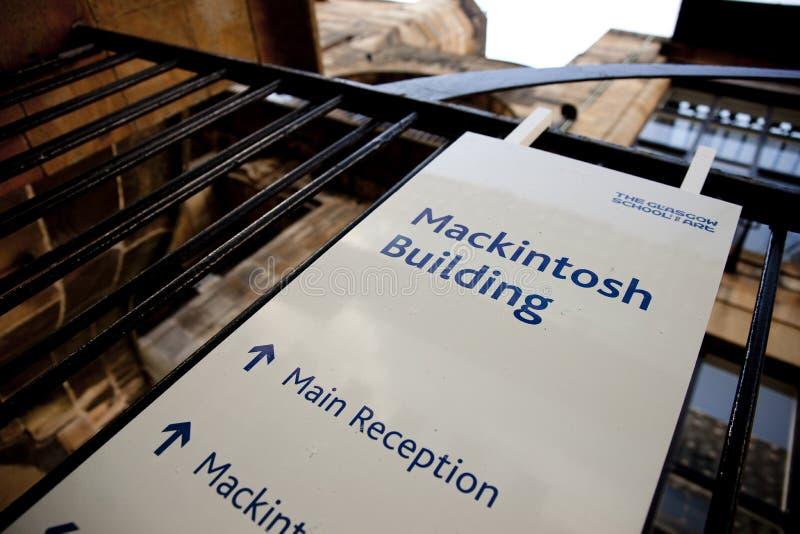 Glasgow, Ecosse, R-U, septembre 2013, Glasgow School de Charles Rennie Mackintosh d'art avant le feu d?sastreux qui image libre de droits