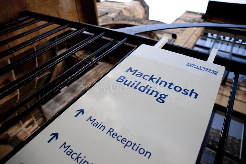 Glasgow, Ecosse, R-U, septembre 2013, Glasgow School de Charles Rennie Mackintosh d'art avant le feu d?sastreux qui photographie stock libre de droits