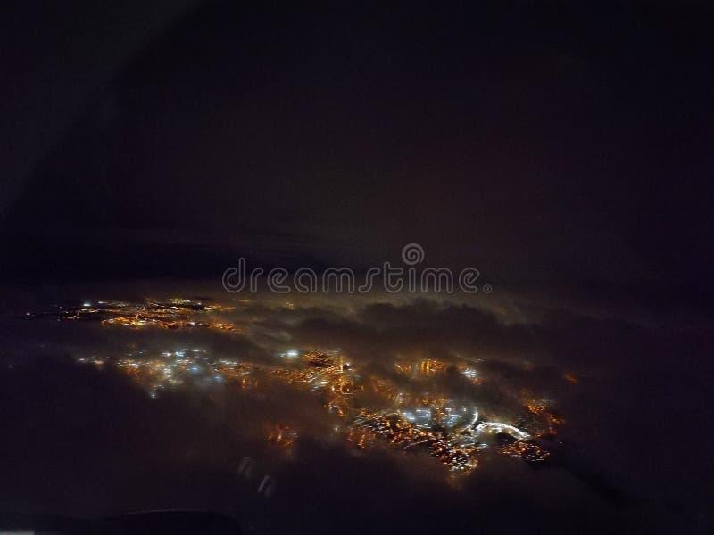 Glasgow en la noche fotos de archivo