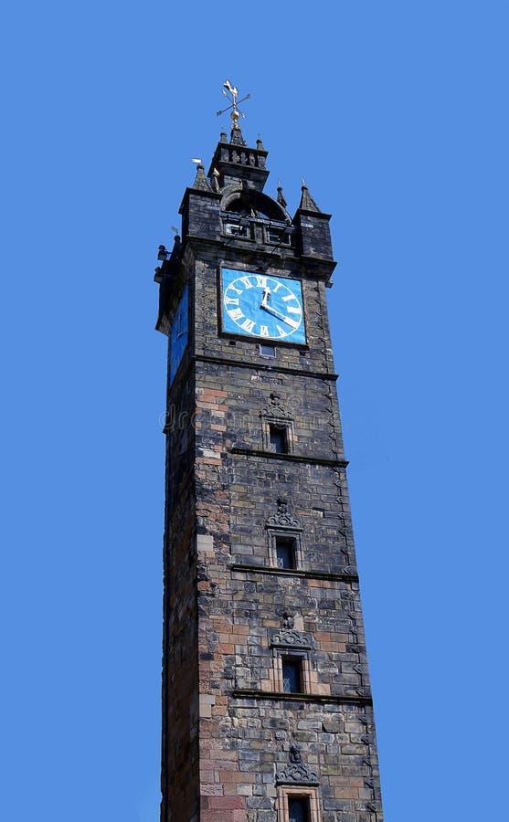 Glasgow, Escócia: A torre de Tolbooth, um dos oldes do ` s da cidade fotos de stock royalty free