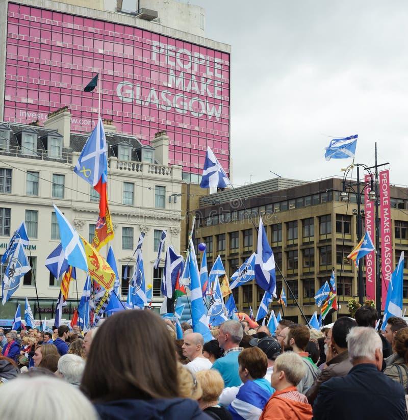 Glasgow George Square Hope sobre o medo 19/09/15 fotos de stock royalty free