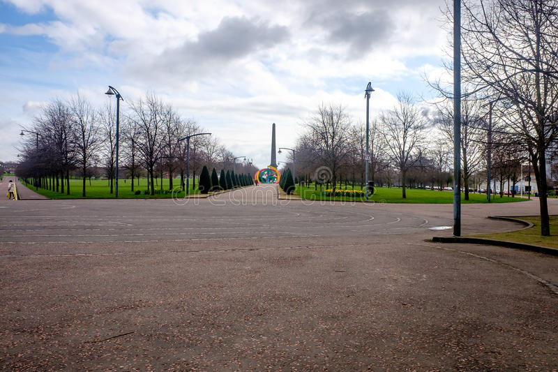 Glasgow Green the oldest public park in Glasgow. 136 acre Glasgow Green the oldest public park in Glasgow stock photography